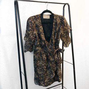 Rebecca Minkoff Floral Silk Wrap Dress.